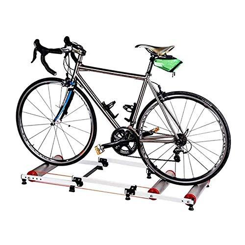 FUJGYLGL Bicicleta estática Soporte Entrenadores, Bicicletas Plegables Trainer Camino de la Bicicleta Ciclismo Indoor Trainer Rodillo Interior fijas de Entrenamiento Soporte Plataforma de Bicicletas