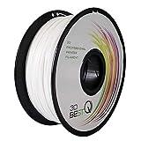 3D BEST-Q PETG 1.75mm 3Dプリンタ用 フィラメント一共通の消耗品、高精度+/- 0.03mm、高品質、正味重量1kg/リール 、7色選択可(白)