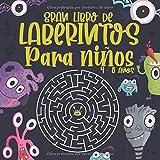 Gran Libro de Laberintos Para niños 4 -8 años: 80 Laberintos con varias formas y niveles: Libro...