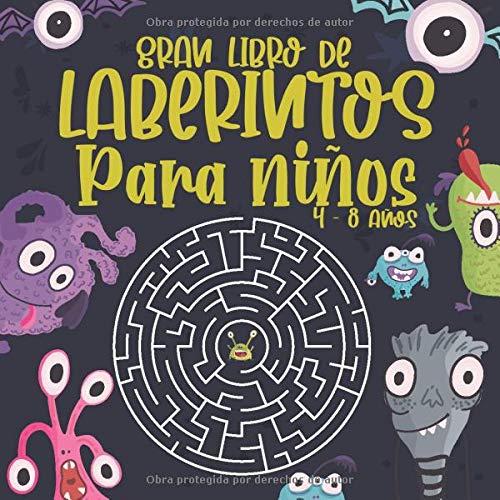 Gran Libro de Laberintos Para niños 4 -8 años: 80 Laberintos con varias formas y niveles: Libro Gran formato de juegos educativos