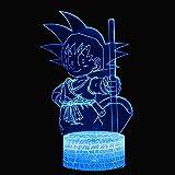 Boutiquespace Lámpara de ilusión 3D Led Luz de Noche Bola Dragón Poderoso Sol Wukong Tema 7 Cambio de Color Toque de Estado de ánimo Regalo de Navidad Pping Creativo Regalo