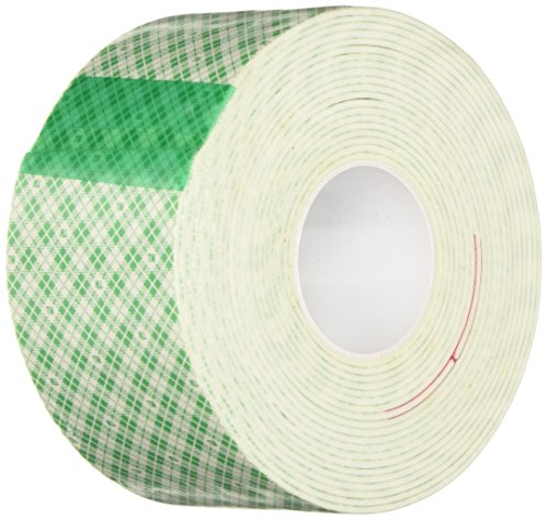 "3M 4026 Natural Polyurethane Double Coated Foam Tape, 0.5"" width x 5yd length (1 roll)"