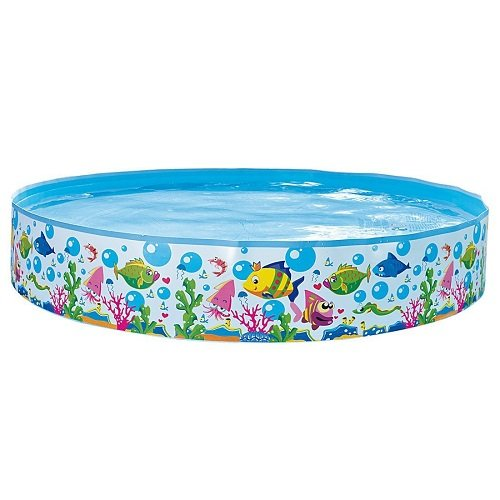Jilong Sea World Quick Fix Pool Ø 150 x 25 cm cm Kinderpool Snap-Set Planschbecken Kinder Schwimmbecken Quick Fill Fun Schwimmbad für Garten und Terasse