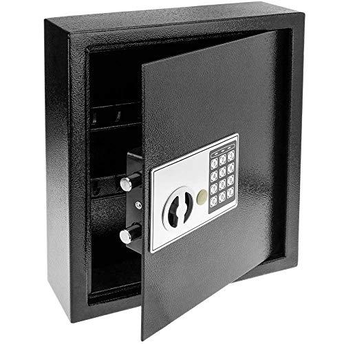 PrimeMatik - Armario de Llaves con 18 Ganchos. Caja Fuerte con código electrónico 30x10x37cm negre