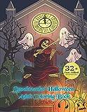Spooktacular Halloween Adult Coloring Book: Autumn & Halloween Coloring Book with Witches, Cats, Vampires, Bats, Zombies, Skulls, Ghosts, Werewolves, Shakespeare & More