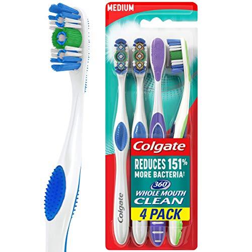 Colgate 360 Adult Toothbrush, Medium (4 Count)