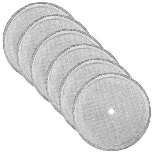 SourceTon Ersatz-Filtersieb, 10,2 cm, Edelstahl-Mesh-Ersatz für 1000 ml / 36 oz / 8 Tassen French Press