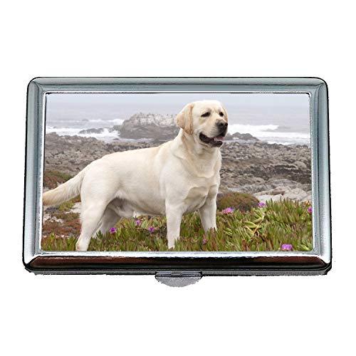 14 Zigaretten-Kasten-Speicher-Fall, niedlicher Mopshund Labrador-Hund hd, Geschäftsname-Kartenhalter