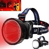 LEESITEC RH21 Faro de luz roja de 1100 lúmenes, faro de caza...