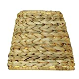 Upgradelights Sea Grass Chandelier Lamp Shade, 6 Inch Retro Bell Shaped, Clips onto Bulb. 4x6x4.5