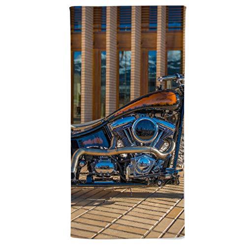 fotobar!style Duschtuch 70 x 140 cm HD 1800 CCM Black Pearl Monarch Bobber