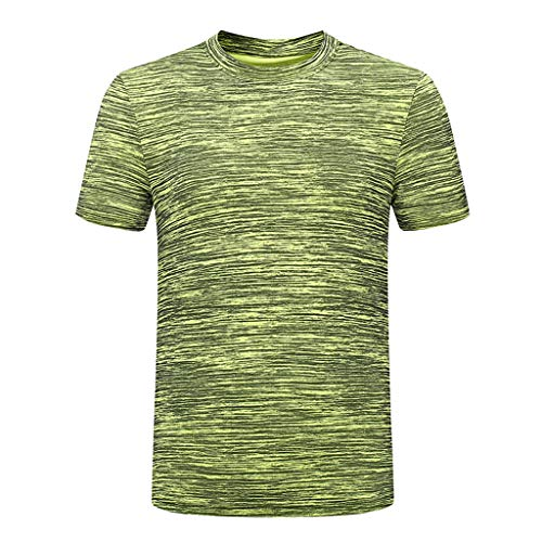 TEBAISE Fitness-T-Shirts für Herren Sport Shirts Sportshirt Funktion Trainingsshirt Running Tennis Kurzarm 2019 Sommer Männer Schnelltrocknendes Rundhalsausschnitt Laufshirt Funktionsshirt Vatertags