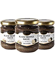 Zwarte truffel Zwarte zomertruffel Tuber aestivum Salsa Tartufata Black summer truffle Luxe Gourmet saus Pasta ideaal voor vlees, gegrild brood, omeletten, pasta, risotto, sushi