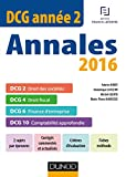 DCG Année 2 - Annales 2016 - DCG 2 - DCG 4 - DCG 6 - DCG 10 - DCG 2 - DCG 4 - DCG 6 - DCG 10