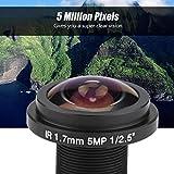 SALUTUYA Lente de CCTV de Colores realistas Lente de Ojo de pez de visión Completa Lente de Ojo de pez para cámara de Seguridad Compatibilidad Amplia HD