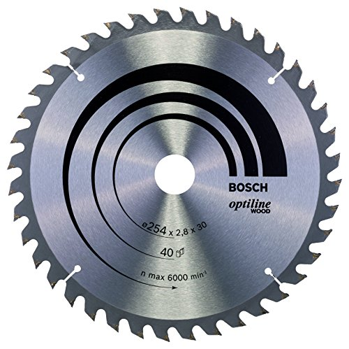 Bosch Professional Disco de sierra circular Optiline Wood (para madera, 254 x...