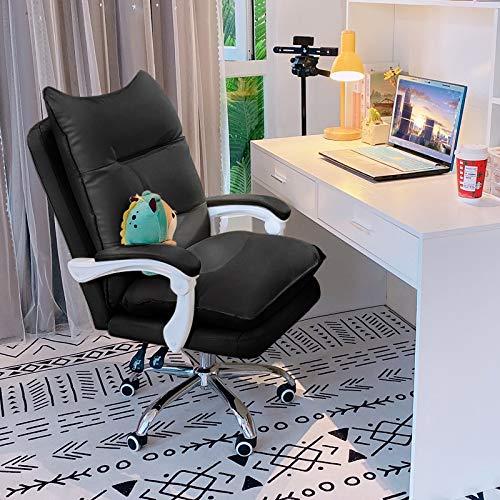 JMXAFMY Sedia da gioco altezza blu ergonomico design regolabile per adulti donne uomini (colore : nero (021), dimensioni: piedi in acciaio)
