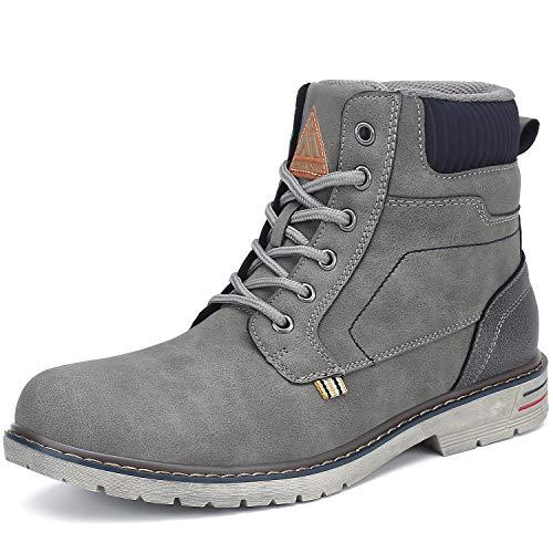 Mishansha Mens Womens Hiking Boots Waterproof Hiking Shoes Outdoor Boots Mid Trekking Boots Non Slip Working Boots Walking Boots Casual Boot Grey