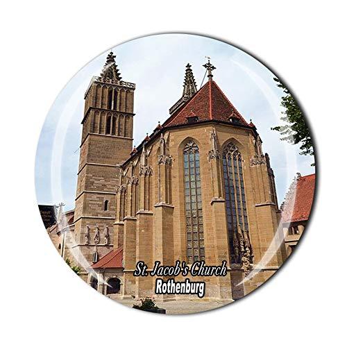 Imán para nevera con diseño de la iglesia de San