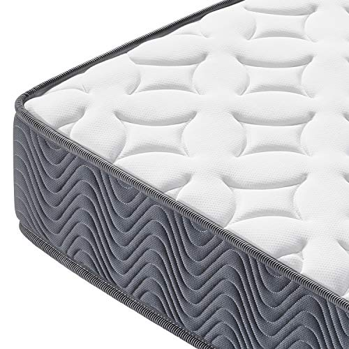 Yaheetech Double Mattress 4ft 6 Pocket Sprung Medium Firm Bed Mattress with Breathable Jacquard Knitted Fabric,Vacuum Packed,135x190x20cm