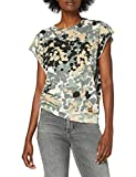 G-STAR RAW Gyre Knot Cap Sleeve Camisa, Lt Thymol Nomad Camo C340/B529, X-Small para Mujer