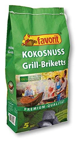 Favorit Kokosnuss Grill Briketts Premium Qualität Grillkohle ökologisch Grillen Kokos 5 KG