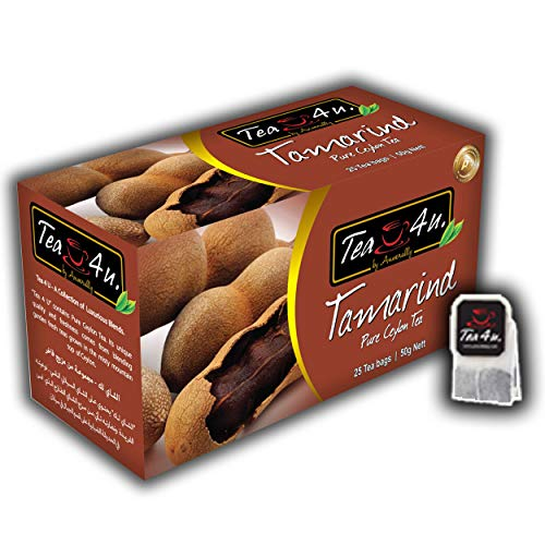 Tea4U Tamarind Black Tea Bags - Original Ceylon Tea