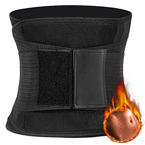 Emooqi Unisex Bauchweggürtel, Verstellbarer Taille Trimmer Damen Nach Geburt Bauchgürtel Schwitzgürtel Fitnessgürtel zum Abnehmen, Fettverbrennung/Sauna Fitness/zur Rückenstabilisierung
