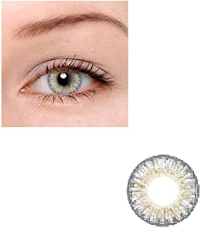 Unisex Contact Lenses Colored Collection Cosmetic Contact Lenses, 12 Months Disposable with Case-Grey