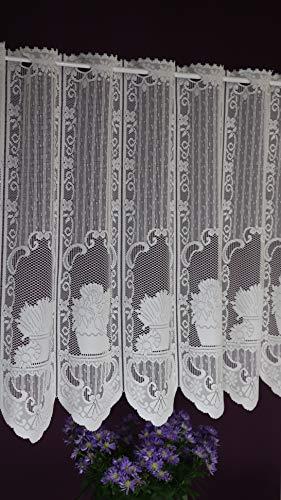 Albani Scheibengardine nach Maß Jacquard- Lamellenpanneau Kurzstore Landhaus Look Höhe 60 cm - Breite 13,5 cm Schritten wählbar Ecru