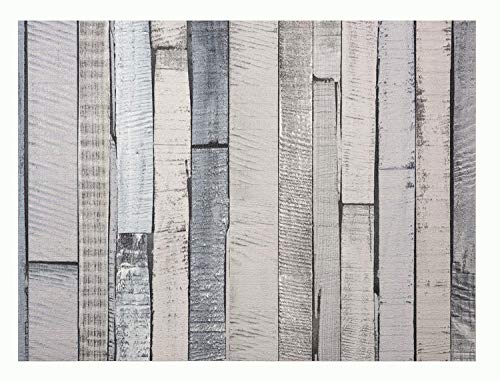 Glorex 6 1330 011 Design behang, houtnerf grijs/blauw, ideaal voor knutselen en decoreren, ca. 120 x 53 cm.