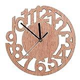 Reloj de Pared de Madera con números Romanos Ronda Vintage Reloj Colgante decoración de Pared para Cocina Dormitorio Sala de Estar(2 #)