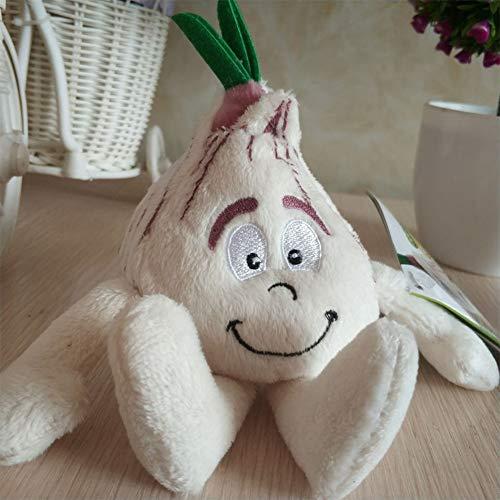 Zantec Plüschspielzeug von Verdure, Goodness Gang Lernspielzeug Puppe Frutta Verdure Aglio Fungo Erdbeere Banana weich für Kinder Geschenk Geburtstag Weihnachten Pendente di 10cm Aglio