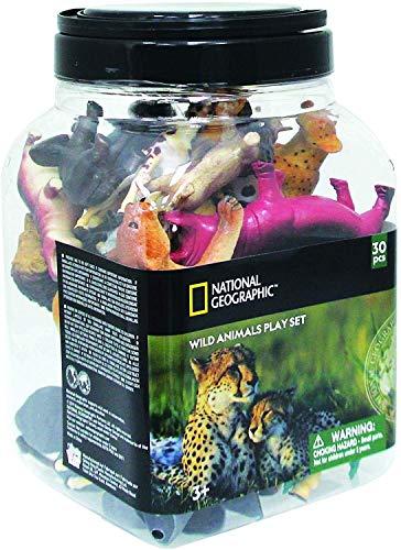 VALUVIC MONTEQUINTO, S.L. Cubo 30 Piezas Animales Salvajes 20 Animales y 10 Accesorios
