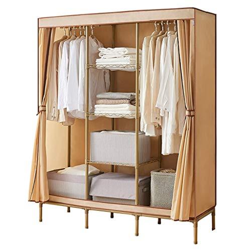 GZQDX Draagbare garderobekast voor kleding, draagbare kast, organizer, draagbare kast, garderobekast