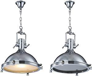 Maxmer Lampadario Lampada a Sospensione Luce da Soffitto Cucina Vintage Industriale E27 Paralume in Metallo Illuminazione per Coffee Bar