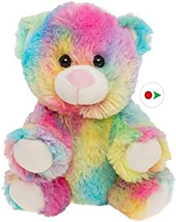 Cuddly Soft 8 inch Stuffed Rainbow Bear.We stuff 'em.you love 'em!