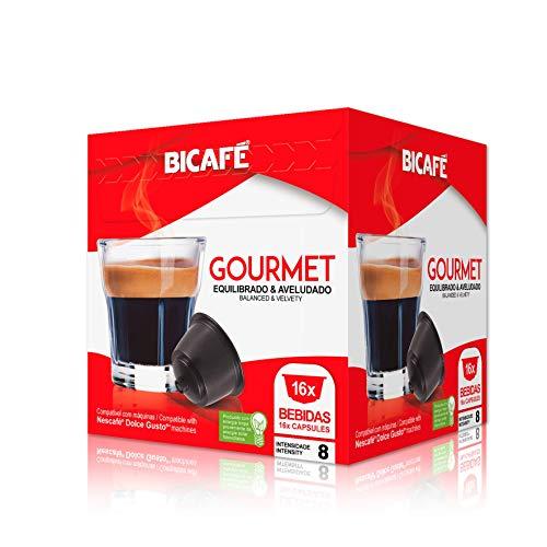 Bicafe - Cápsulas Dolce Gusto compatibles Gourmet 16 ud