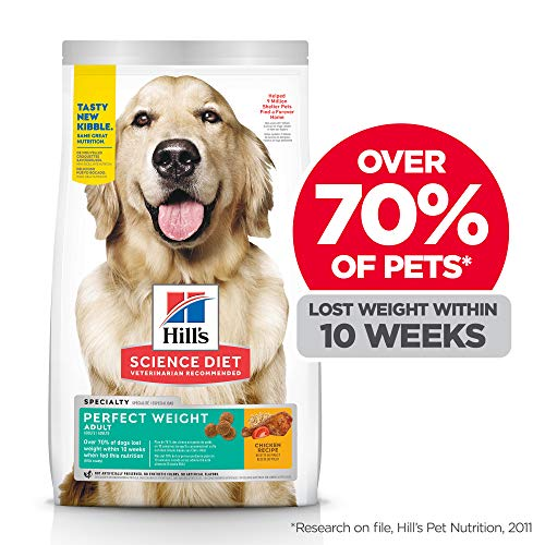 Hill's Science Diet Dry Dog Food, Adult, Perfect Weight, Chicken Recipe, 15 lb Bag