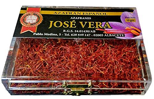 Azafrán Español de Calidad Suprema (Categoría I ISO 3632-2), Elaboración tradicional, gran aroma y sabor, 10g
