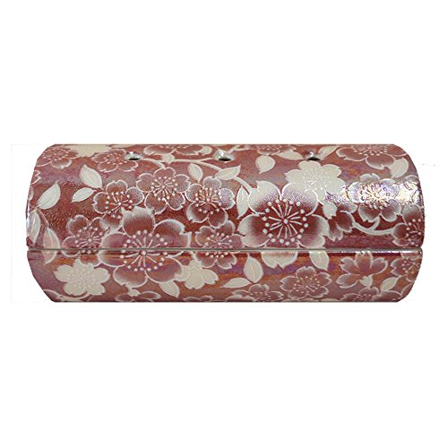 【国産・美濃焼】【単品】『ゆい花』横置き筒型香炉 色:ワインレッド 陶器製(j1273-1-1)