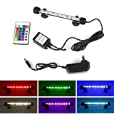 LED Aquarium Light, Fish Tank Light Waterproof RGB Color Changing Remote Control Underwater Submersible LED Lights Strip Background Decorate Glofish Betta Plant Lighting