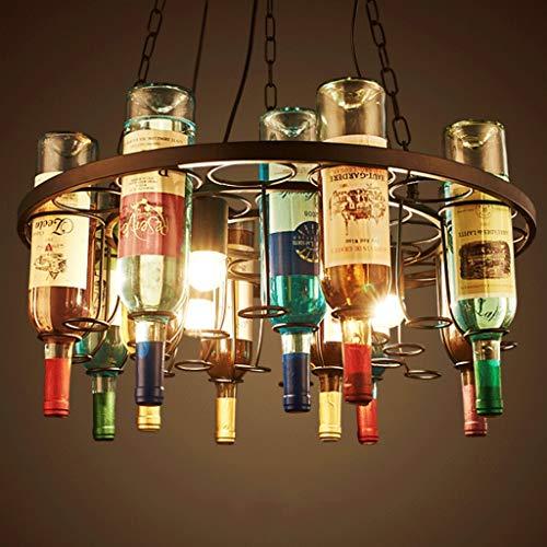 CHX Wine Bottle Chandelier- Personality Round Creative Retro Bar Leisure Bar Counter CHXSF