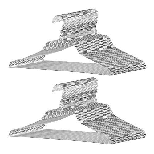 SPECILITE Clothes Hangers, 16 inch 12 Gauge Metal Wire Hanger Bulk for Standard Adult Size, Set of 100
