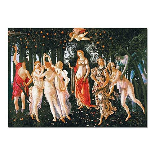 Giallobus - Quadro - Sandro Botticelli - La Primavera - Vetro Acrilico Plexi - 140x100 - Pronto da Appendere - Quadri Moderni per la casa