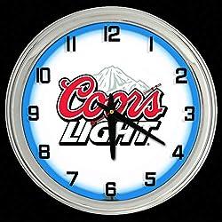 ELG Companies LLC 16 Coors Light Beer Sign Blue Neon Clock