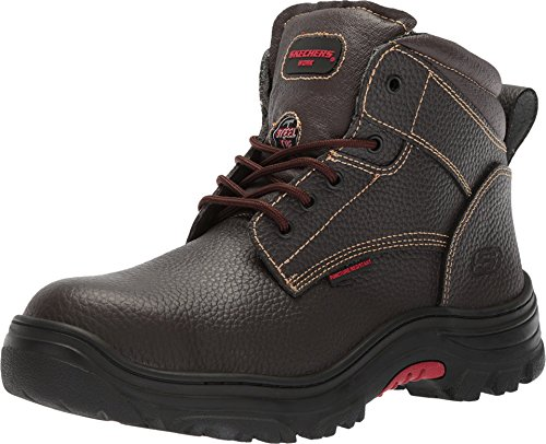 Skechers for Work Men's Burgin-Tarlac Industrial Boot,brown embossed leather,10.5 M US