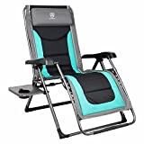 EVER ADVANCED Oversize XL Zero Gravity Recliner Padded Patio Lounger Chair with Adjustable Headrest Support 350lbs