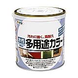 アサヒペン 水性多用途カラー 0.7L ツヤ消し黒