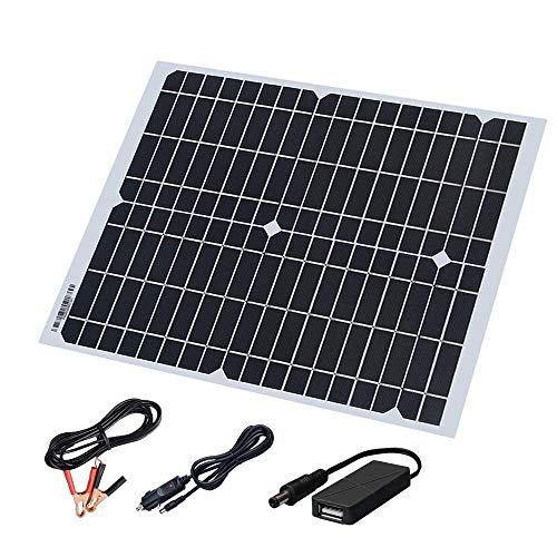 XINPUGUANG 20W 18v Panel Solar flexible Cargador solar monocristalino con DC USB para el yate del coche Barco ligero llevado 12v Batería Camping Camping Carga del teléfono móvil